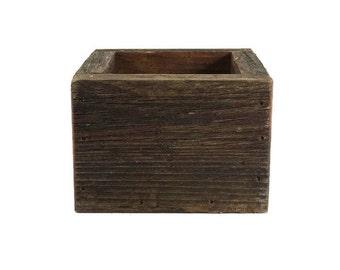 Reclaimed Wood Planter - Wooden Box - Succulent Planter - Garden Decor