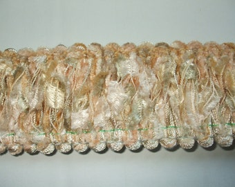 Ivory Chenille Brush Loop Fringe Trim