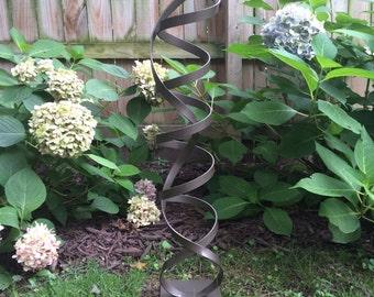 Metallic Bronze Modern Abstract Aluminum Metal Sculpture Garden Sculpture In/Outdoor by Andre'