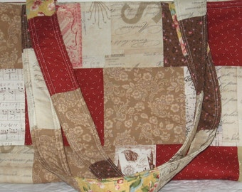 Yesteryear Patchwork Crafter's Tote