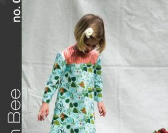 Lily Dress Children's Sewing Pattern by Green Bee