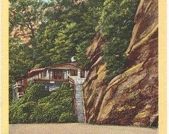 Vintage North Carolina Postcard - The Cliff Dwellers Inn at Chimney Rock (Unused)