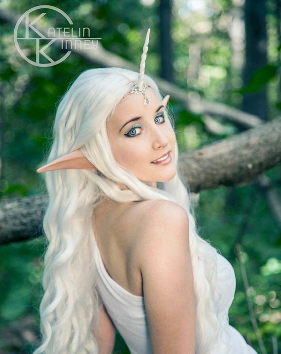 Elf Ears: LARGE ANIME/MANGA -- handmade, latex ear tips, great for cosplay, costumes, Halloween, Christmas