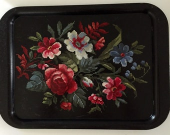 Vintage Decorative Metal Tray, Large
