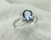 Circa 1930's Sapphire and Diamond Ring