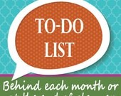 To-Do List for Planner and Notebooks