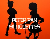 SILHOUETTES (7) Peter Pan-Tinkerbell-Captain Hook-Smee Die Cuts  //  Disney Birthday  //  Wall Art-Photo Prop-Scrapbook...Ready-to-Ship