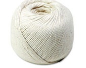 Ball of Cotton String * 8 ply * 250 ft * white string * packaging * gift wrap * tags