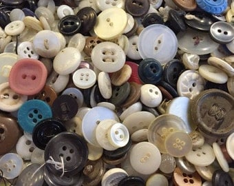 SALE! One Pound of Assorted Buttons * sewing * crafting * scrap booking * vintage