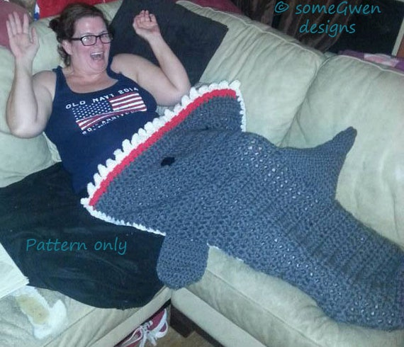 Free Pattern Crochet Shark Blanket : Crochet Pattern For Shark Blanket myideasbedroom.com