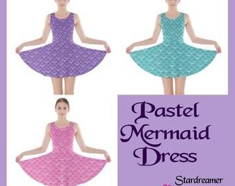 Pastel Mermaid Skater Dress In Stock Sale