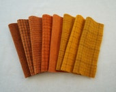 Orange Hand Dyed Wool Felt in Autumn Colors, READY to Ship, 100% Wool Quilting Acres