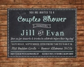 Chalkboard Simple Elegant Couples Bridal Wedding Shower Party Baby Birthday Invitation - DIGITAL FILE