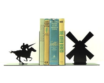 Don Quixote Metal Art Bookends - Free USA Shipping
