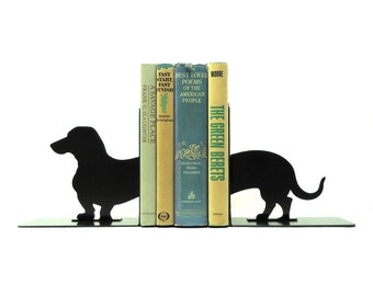 Dachshund Wiener Dog Metal Art Bookends - FREE USA Shipping