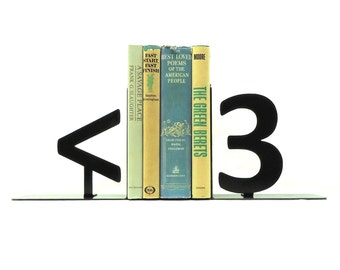Geek Heart Bookends