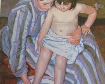 Mary Cassatt- The Bath ,1892, Color Plate/ Book Page Print/6.5  x 10 in