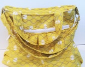 Yellow Sailboat  Diaper Bag, Tote Bag, cross body bag, nappy bag,
