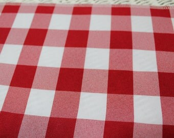 Free USA Shipping/Red Gingham Table Runner/Gingham Table Runner/TableRunner /Wedding