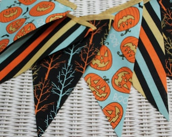 Free USA Shipping/Halloween Fabric Banner/Autumn Fabric Bunting/Fabric Pennant/Fall Bash Banner/Fall Banner/Fabric Banner/Party Banner