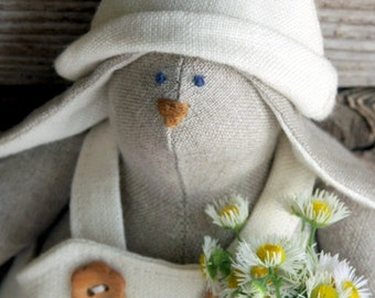 linen fabric rabbit toy