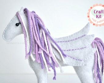 DIY Craft Kit * Pegasus Sewing Kit * Make Your Own Pegasus Plush * Pegasus Sewing Pattern and Supplies