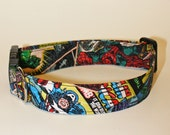 Dogs Love Marvel Too Fabric Collar