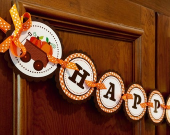 New!  Pumpkin Patch Banner - Fall Birthday Banner or Baby Shower Banner