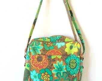 Vintage Shoulder Bag Handbag Floral Retro Purse Trendy Japanese