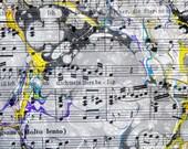 A Curious Piece - Hand marbled sheet music