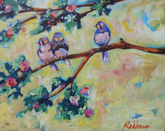 Finch Love- original painting
