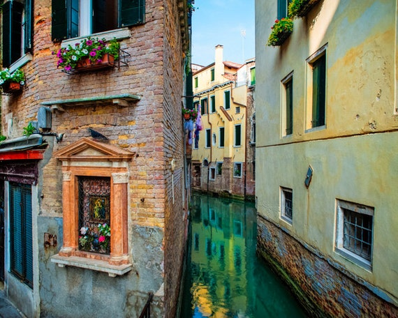 Venice Photography Canal Photo Italy Photograph Religious Shrine Shabby Chic  Fine Art ven30