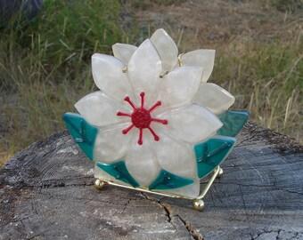 Vintage Lucite - Resin Flower Napkin Holder 1960s/1970s