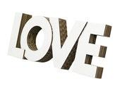 Cardboard Love Wall Art in White