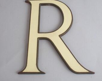 Antique Pharmacy RX Letter R