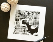 Baltimore or annapolis hand cut map, 10x10