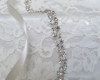 Crystal Rhinestone Bridal Sash,Wedding sash,Bridal Accessories,Bridal Belt,Style # 8