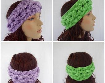 knit headband - braided headband - knitted headband - green headband or choose your color - BOGO item