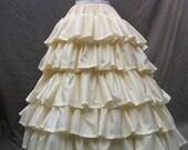 Civil War Era 5 Tiered Ruffled Petticoat