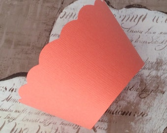 Coral Cupcake Wrappers -  weddings, showers, birthdays