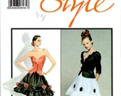 Misses Lined Jacket Bustier Lined Skirt Uncut Sewing Pattern Size Adult 10 Caroline Charles Style 1482
