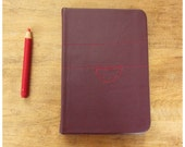 Pocket Size Journal - Traveler's Notebook - Leather Blank Book - Clothesline - Plum Leather - Handbound Notebook