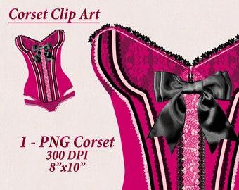 Nightie Clip Art Corset Clipart Burlesque Clipart Lingerie