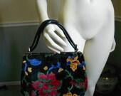 Carpet Bag / Floral Chenille Purse  Sale