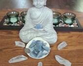 Blue Chalcedony / Meditation Stone / Chakra Stone / Reiki Stone / Wiccan / Pagan