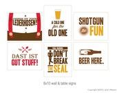 8x10 Beer Tasting Party Signs