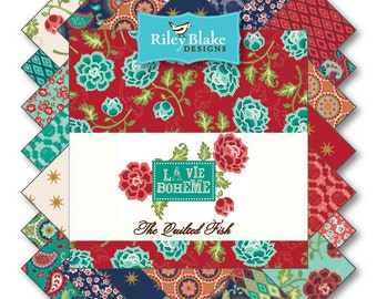 Sale La Vie Boheme 21 Fat Quarters precuts by Riley Blake 100% cotton fabric for quilting