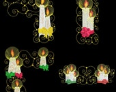 CURLY CANDLES - 30 Machine Embroidery Designs Instant Download 4x4 5x7 6x10 hoop (AzEB)