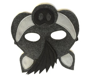 Children's Wild BOAR Felt Woodland Animal Mask