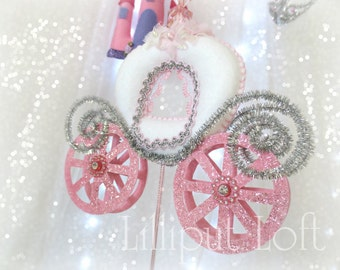 Princess - nursery mobile pink and white